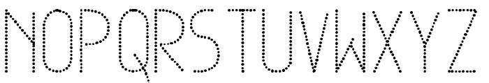 Dowted remix tfb Font UPPERCASE