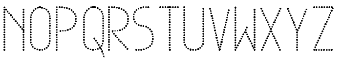 Dowted remix tfb Font LOWERCASE