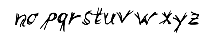 double_line Font LOWERCASE