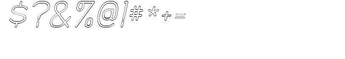 Doctarine Regular Outline Slant Font OTHER CHARS