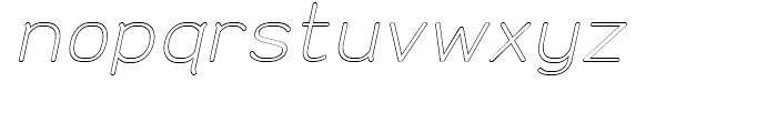 Doctarine Regular Outline Slant Font LOWERCASE