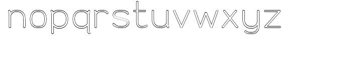 Doctarine Regular Outline Font LOWERCASE