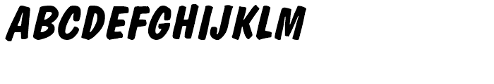 Dom BT Diagonal Bold Font UPPERCASE