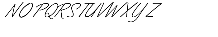 Dominique Light Font UPPERCASE