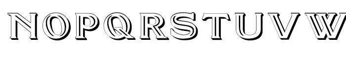 Doncaster SC Embossed Font UPPERCASE