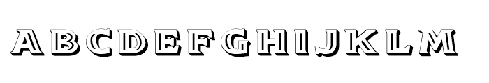 Doncaster SC Embossed Font LOWERCASE
