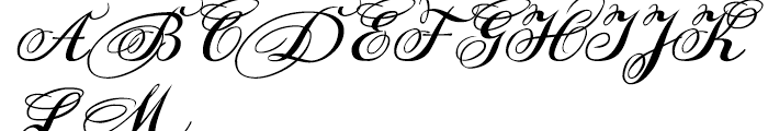 DonnaJulia Normal Font UPPERCASE