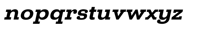 Donnerstag Black Italic Font LOWERCASE
