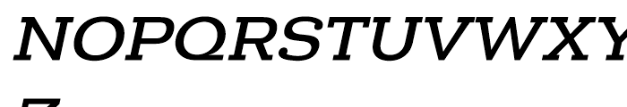 Donnerstag Bold Italic Font UPPERCASE