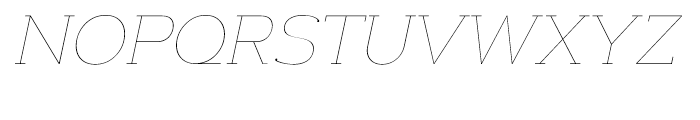 Donnerstag Hairline Italic Font UPPERCASE