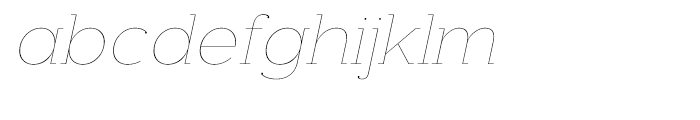 Donnerstag Hairline Italic Font LOWERCASE