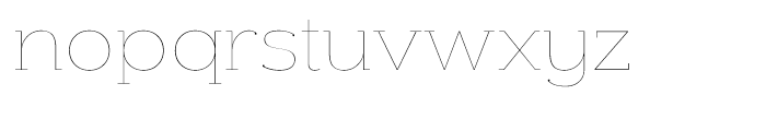 Donnerstag Hairline Font LOWERCASE