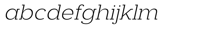 Donnerstag Light Italic Font LOWERCASE
