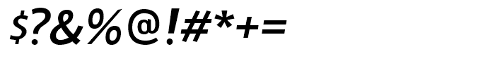 Doradani SemiBold Italic Font OTHER CHARS