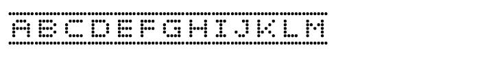Dotto Deluxe Button Font UPPERCASE