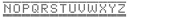Dotto Deluxe Button Font LOWERCASE