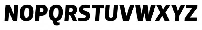 Dobra Bold Italic Font UPPERCASE