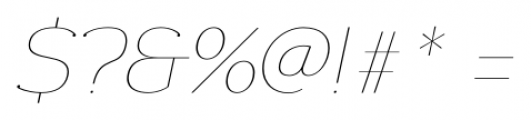 Donnerstag Hairline Italic Font OTHER CHARS
