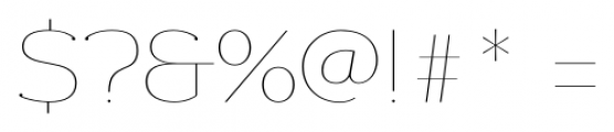 Donnerstag Hairline Font OTHER CHARS