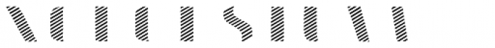 Doblo Stripes A Font LOWERCASE