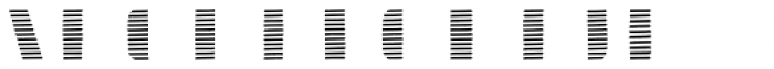 Doblo Stripes B Font LOWERCASE
