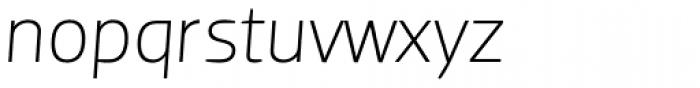 Dobra Light Italic Font LOWERCASE