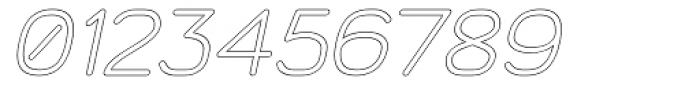 Doctarine Bold Outline Slant Font OTHER CHARS