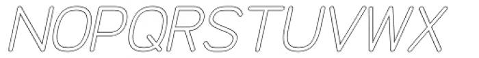 Doctarine Bold Outline Slant Font UPPERCASE