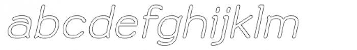 Doctarine Bold Outline Slant Font LOWERCASE