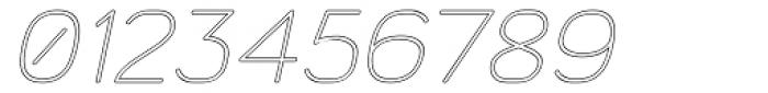 Doctarine Light Outline Slant Font OTHER CHARS