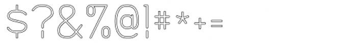 Doctarine Light Outline Font OTHER CHARS