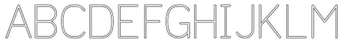 Doctarine Light Outline Font UPPERCASE
