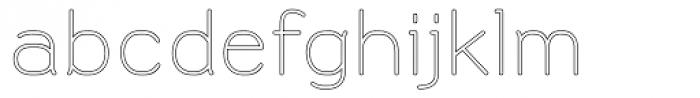 Doctarine Light Outline Font LOWERCASE