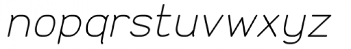 Doctarine Light Slant Font LOWERCASE