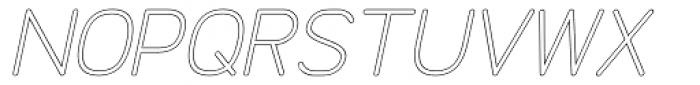 Doctarine Regular Outline Slant Font UPPERCASE