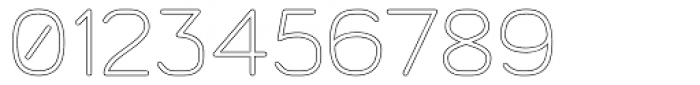 Doctarine Regular Outline Font OTHER CHARS