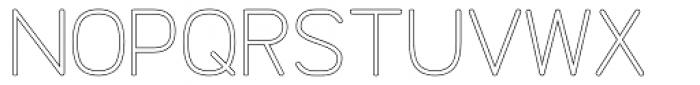 Doctarine Regular Outline Font UPPERCASE