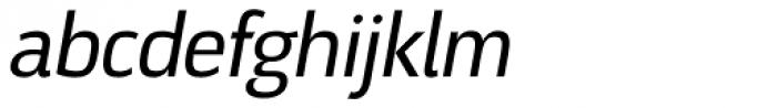 Docu Regular Oblique Font LOWERCASE