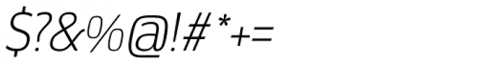 Docu Thin Oblique Font OTHER CHARS