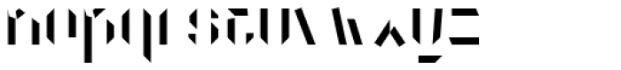 Dog Eared Solid A Font LOWERCASE