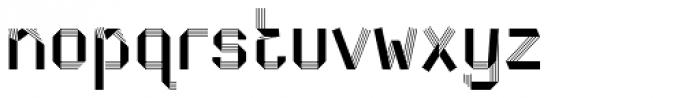 Dog Eared Striped Font LOWERCASE