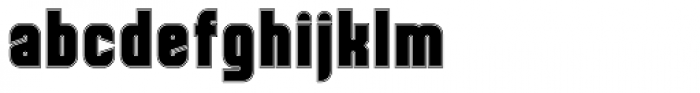 Dohrma Inline Font LOWERCASE