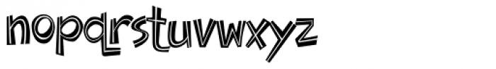 Doinky Inline Font LOWERCASE