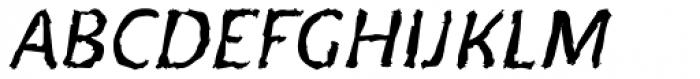 Doki Doki Tokimeki Eroded Italic Font UPPERCASE