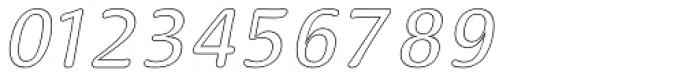 Doki Doki Tokimeki Hollow Italic Font OTHER CHARS