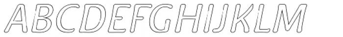 Doki Doki Tokimeki Hollow Italic Font UPPERCASE