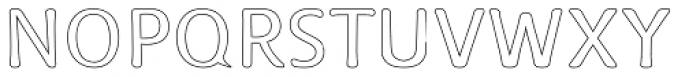 Doki Doki Tokimeki Hollow Font UPPERCASE