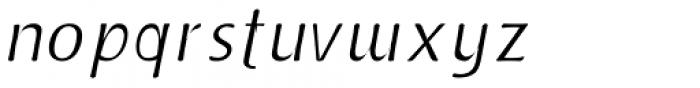 Doki Doki Tokimeki Thin Italic Font LOWERCASE