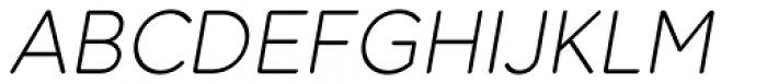 Dol 45 Light Oblique Font UPPERCASE