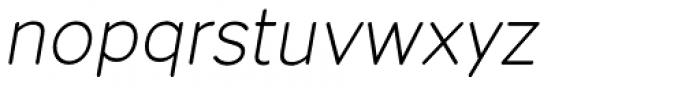 Dol 45 Light Oblique Font LOWERCASE